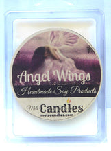 Load image into Gallery viewer, Angel Wings - 3.2 Ounce Pack of Soy Wax Tarts (6 Cubes Per Pack) - Scent Brick - mels-candles-more