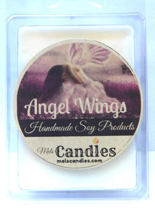 Angel Wings - 3.2 Ounce Pack of Soy Wax Tarts (6 Cubes Per Pack) - Scent Brick - mels-candles-more