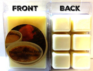 Pumpkin Creme Brulee 3.2 Ounce Pack of Soy Wax Tarts (6 Cubes Per Pack) - Scent Brick, Wickless Candle - mels-candles-more