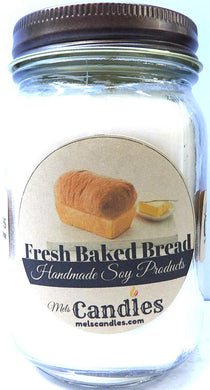 Fresh Baked Bread 16 Ounce Country Jar 100% Soy Candle - Handmade in USA - mels-candles-more
