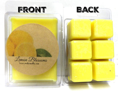 Two Packs of Lemon Blossoms Handmade 100% Pure Soy Wax Tarts - Scent Brick, Wickless Candle - mels-candles-more