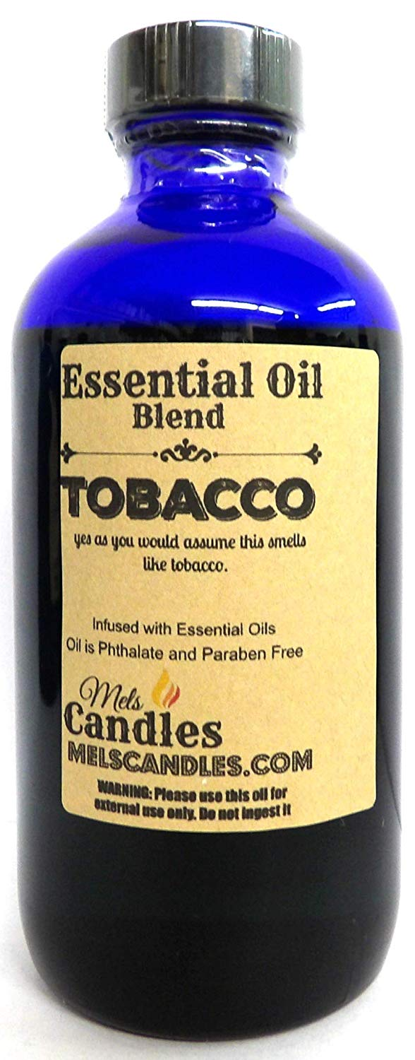Tobacco 8 oz   236.58 ml Glass Bottle - Premium Grade A Quality Fragrance Oil, Tobacco - Skin Safe Oil - mels-candles-more