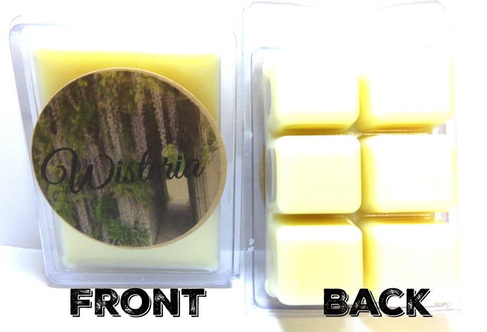 Wisteria 3.4 Ounce Pack of Soy Wax Tarts / Mel's Melts / Scent Brick - mels-candles-more