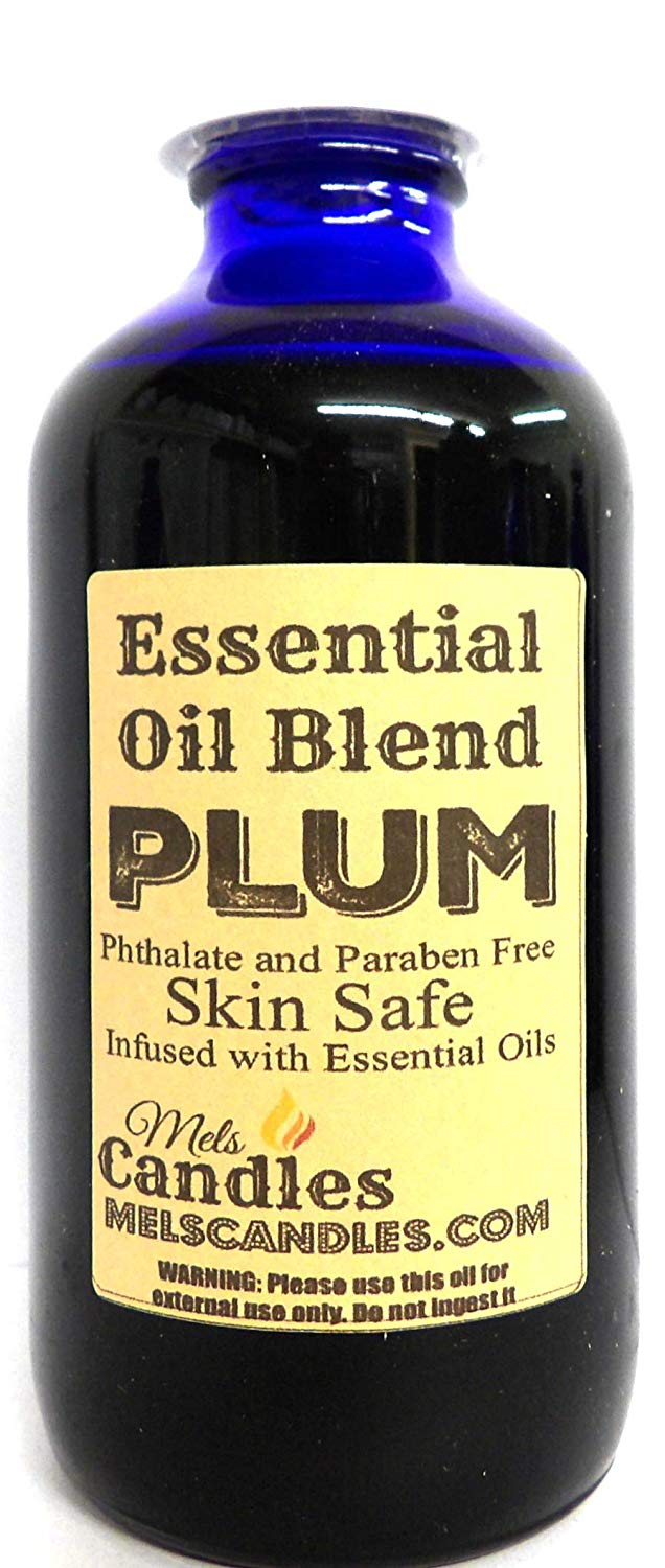 Plum 8oz 236ml Bottle of Premium Grade Fragrance Oil, infused with essential oils, Skin Safe Oil, Candles, Lotions Soap and More - mels-candles-more