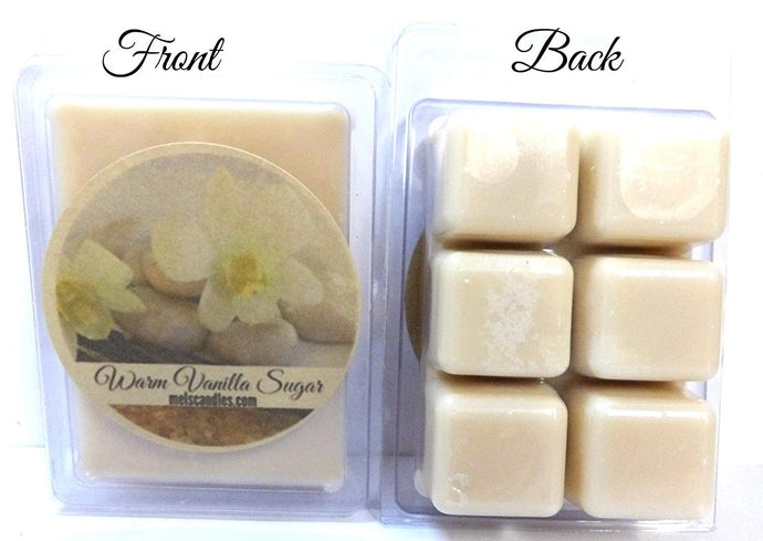 Warm Vanilla Sugar 3.2 Ounce Pack of Soy Wax Tarts - Scent Brick, Wickless Candle - mels-candles-more