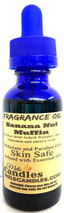 Banana Nut Muffin 1oz   29.5ml BLUE BOTTLE of Skin Safe Fragrance Oil - mels-candles-more
