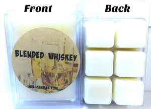 Blended Whiskey- 3.2 Ounce Pack of Soy Wax Tarts - Scent Brick, Wickless Candle - mels-candles-more