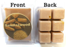 Load image into Gallery viewer, Sandalwood 3.2 Ounce Pack of Soy Wax Tarts - Scent Brick, Wickless Candle - mels-candles-more