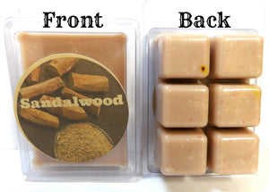 Sandalwood 3.2 Ounce Pack of Soy Wax Tarts - Scent Brick, Wickless Candle - mels-candles-more