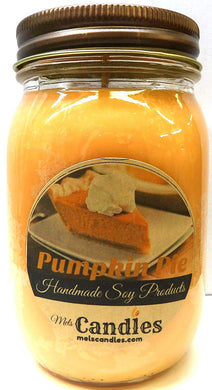 Pumpkin Pie 16 Ounce Country Jar 100% Soy Candle - Handmade in USA - mels-candles-more