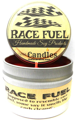 Race Fuel (Great for Racers) 4oz All Natural Soy Candle Tin (Take It Any Where) - mels-candles-more