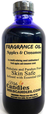 Apples and Cinnamon 4 Ounce    118.29 ml Glass Bottle of Premium Fragrance   Perefume Oil - mels-candles-more
