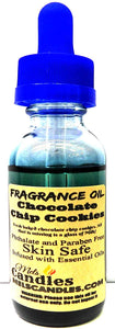 Chocolate Chip Cookies 1oz 29.5ml Blue Glass Bottle of Fragrance Oil, Candles, Lotions Soap and More