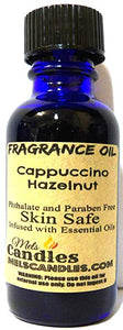 Cappuccino Hazelnut 1oz 29.5ml Glass Bottle of Premium Grade Fragrance Oil, Skin Safe Oil - mels-candles-more