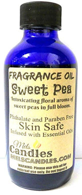 Sweet Pea  4 Ounce    118.29 ml Glass Bottle of Premium Fragrance   Perefume Oil - mels-candles-more