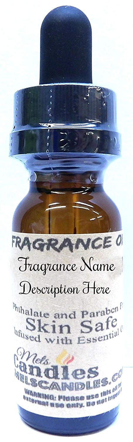 Ylang Ylang .5oz 14.75ML Amber Glass DROPPER Bottle of Fragrance Oil with Childproof cap - mels-candles-more