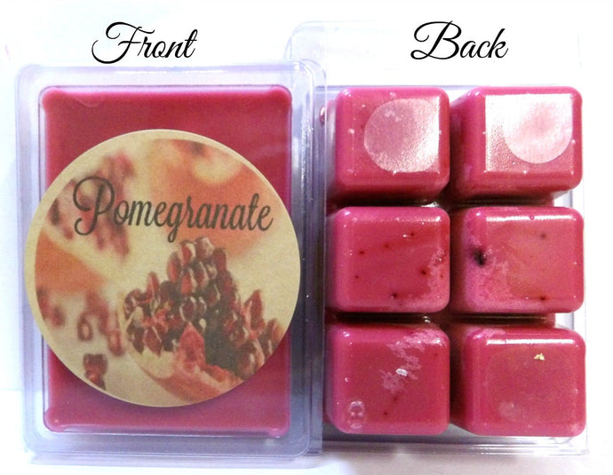 Pomegranate 3.2 Ounce Pack of Soy Wax Tarts - Scent Brick, Wickless Candle - mels-candles-more