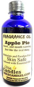 Apple Pie 4 Ounce    118.29 ml Glass Bottle of Premium Fragrance   Perefume Oil - mels-candles-more