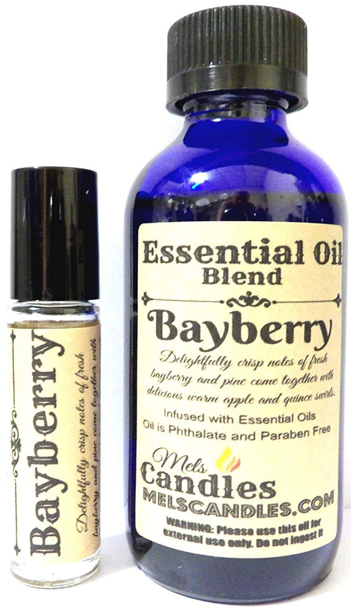 COMBO - BAYBERRY Combo 4oz   118.29 Ml Bottle of Skin Safe Fragrance   Perfume Oil and 10 Ml Bottle of Roll-On Perfume Oil - mels-candles-more