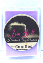 Load image into Gallery viewer, Love Spell- 3.2 Ounce Pack of handmade Soy Wax Tarts - Scent Brick, Wickless Candle - mels-candles-more