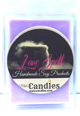 Love Spell- 3.2 Ounce Pack of handmade Soy Wax Tarts - Scent Brick, Wickless Candle - mels-candles-more