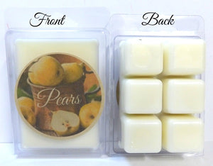 Pears 3.2 Ounce Pack of Soy Wax Tarts - Scent Brick, Wickless Candle - mels-candles-more