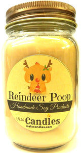 Reindeer Poop 16 Ounce Country Jar 100% Soy Candle - Handmade in USA - mels-candles-more