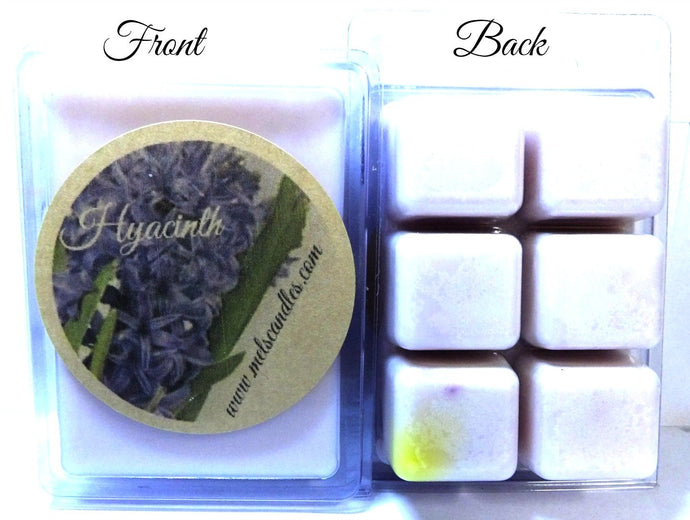 Hyacinth 3.2 Ounce Pack of Soy Wax Tarts (6 Cubes Per Pack) - Scent Brick - mels-candles-more