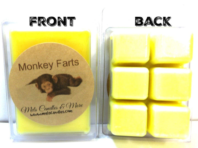 Monkey Farts 3.2 Ounce Pack of Soy Wax Tarts - Scent Brick -Wickless Candle Tart Warmer Wax - mels-candles-more