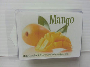 Mango 3.2 Ounce Wax Tarts - Scent Brick, Wickless Candle - mels-candles-more