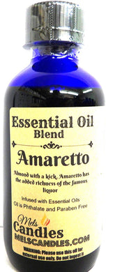 Amaretto 4oz   118.29ml Blue Glass Bottle of Premium Grade A Quality Fragrance Oil, Skin Safe Oil, Use in Candles, Soap, Lotions, Etc - mels-candles-more