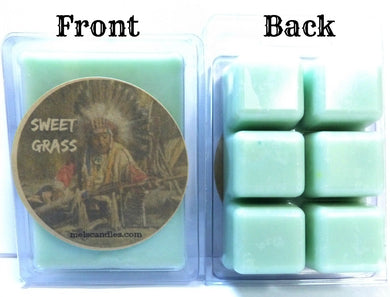 Sweet Grass 3.4 Ounce Pack of Soy Wax Tarts -(6 Cubes Per Pack) Scent Brick, Wickless Candle, Great for Any Electric Burners - mels-candles-more