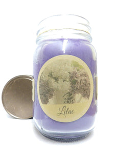 Lilac Blossoms 16 Ounce Country Jar 100% Soy Candle - Handmade in USA - mels-candles-more