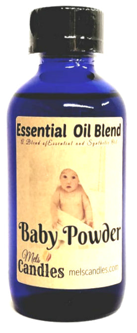 Baby Powder 4 ounce Glass Bottle of Essential Oil Blend Fragrance Perfume Oil