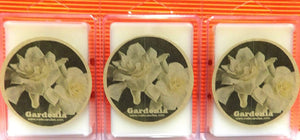 COMBO THREE Packs of Gardenia 3.2 Ounce Pack of Soy Wax Tarts (6 Cubes Per Pack) Wickless Candle Tart Warmer Wax - mels-candles-more