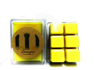 Lemongrass 3.2 Ounce Wax Tarts - Scent Brick, wickless candle, wax brick, scent cubes - mels-candles-more