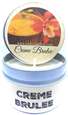 Creme Brulee 4oz All Natural Soy Candle Tin Handmade in Rolla Missouri - mels-candles-more