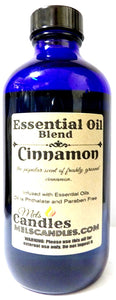 Cinnamon 8oz   236 ml Blue Glass Bottle of Premium Grade Fragrance Oil, Skin Safe Oil, Candles, Lotions Soap and More - mels-candles-more