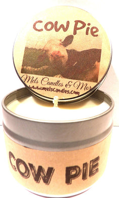 Cow Pie - Fresh Cut Grass - 4 ounce All Natural Soy Candle Tin - Handmade in Rolla Missouri - mels-candles-more