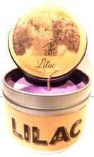 Load image into Gallery viewer, Lilac Blossoms 4oz All Natural HANDMADE Soy Candle Tin Made in the USA - mels-candles-more