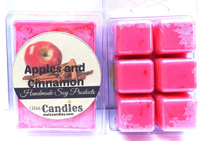 Apples and Cinnamon- 3.4 Ounce Pack of Soy Wax Tarts (6 Cubes Per Pack)- Scent Brick-wickless Candle Tart Warmer Wax - mels-candles-more