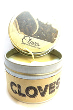 Load image into Gallery viewer, Cloves 4oz All Natural Soy Candle Tin - Handmade in Rolla Missouri - mels-candles-more