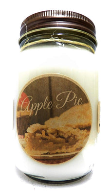 Apple Pie 16 Ounce Country Jar 100% Soy Candle - Handmade in USA - mels-candles-more