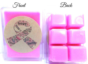 HOPE Cancer Awareness 3.4oz Pack of Soy Wax Tarts (6 Cubes Per Pack) - mels-candles-more