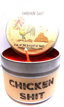 Load image into Gallery viewer, Chicken S#@t (A Lil of This and a Lot of That) 4 oz All Natural Soy Candle Tin - mels-candles-more