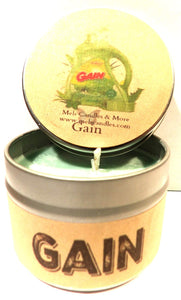 Gain Original (Type) 4oz All Natural Soy Candle Tin - Approximate Burn Time 30+ Hours - mels-candles-more