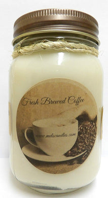 Fresh Ground Coffee -16oz Country Jar All Natural Hand Made Soy Candle - mels-candles-more