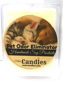 Pet Odor Eliminator 3.2 Ounce Pack of Soy Wax Tarts (6 Cubes Per Pack) Scent Brick, Wickless Candle - mels-candles-more