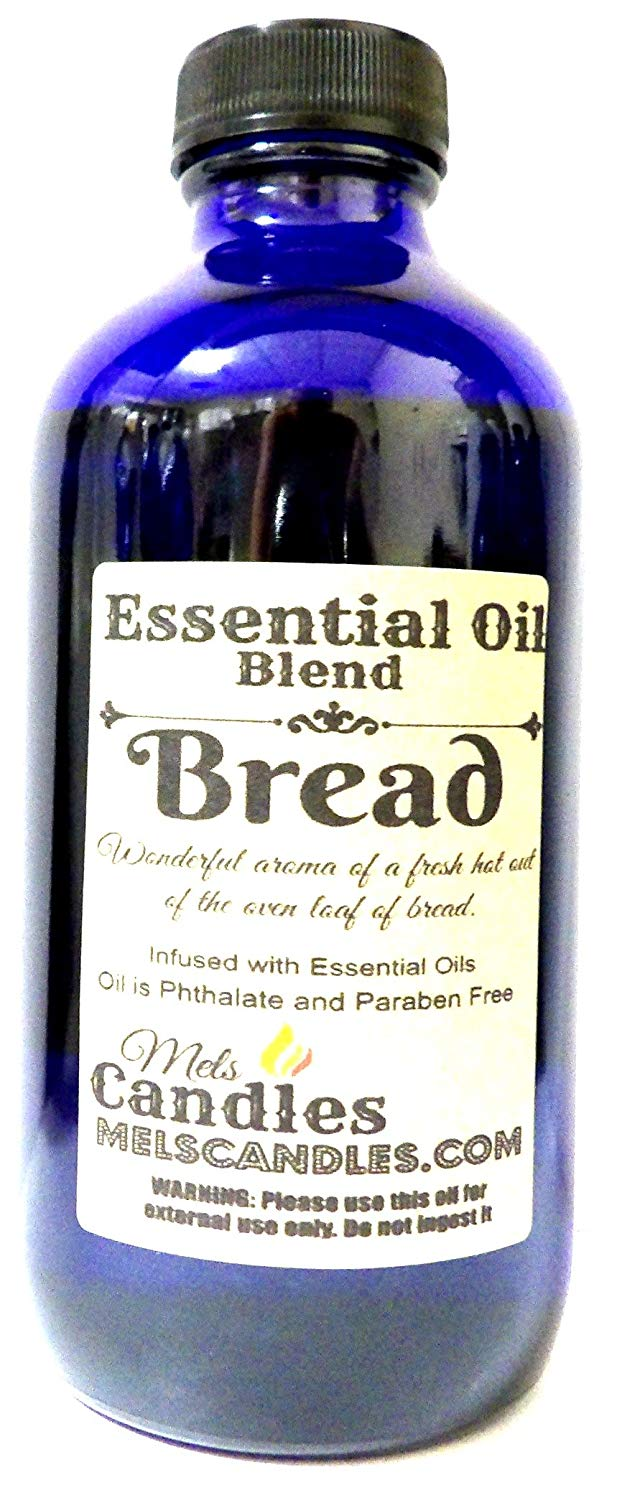Bread 8 oz   236.58 ml Blue Glass Bottle of Premium Grade Skin Safe Fragrance Oil - mels-candles-more