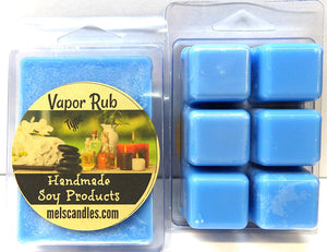 Vicks Vapor Rub Type- 3.4 Ounce Pack of Soy Wax Tarts (6 Cubes per Pack) - Scent Brick